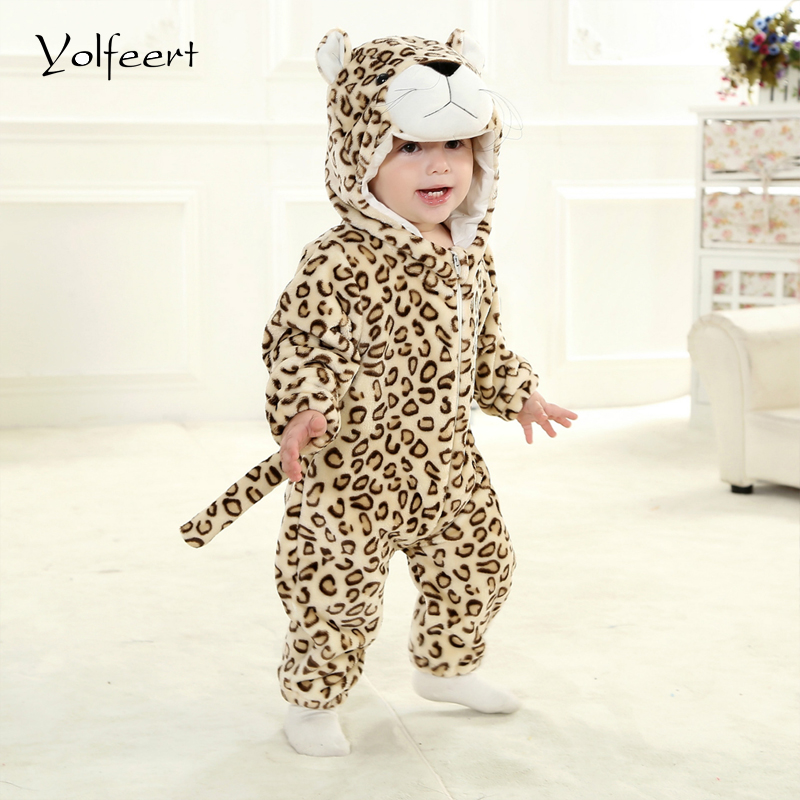 YOLFEERT Spring/Autumn Unisex Hooded Baby Rompers Newborn Jumpsuit Baby Boy Girl Clothes Snowsuit Overalls Romper Clothing BS018