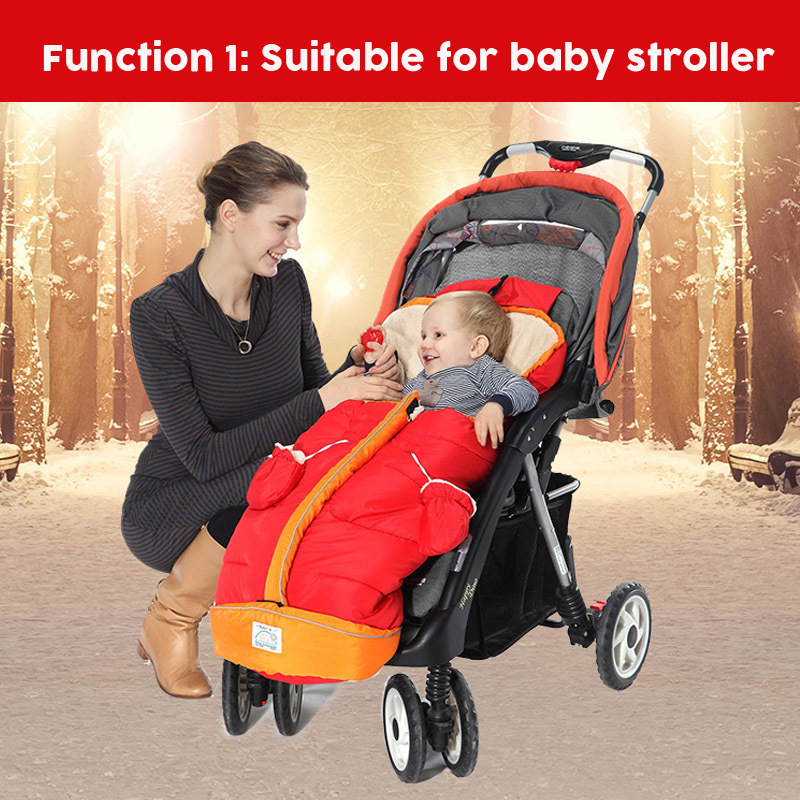 Winter Baby Wamer Stroller Sleeping Bag Infant Fleece Blanket Swaddle For Stroller Newborn Sleepsack Envelope Baby Blanket 3-36M removable liner baby infant swaddle blanket 100