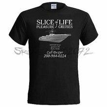 Dexter Inspired Slice of Life Pleasure Cruises mens T Shirt Morgan euro size men black cotton tshirt sbz5115(China)