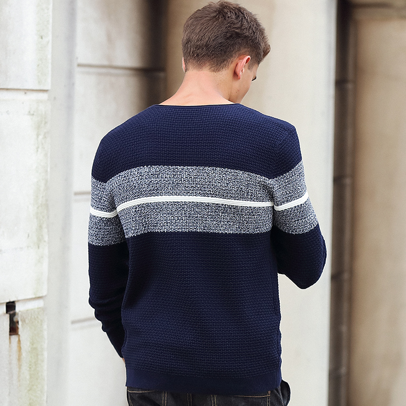 Image 4 - Pioneer Camp casual striped sweater men brand clothing Pullover  men fashion Designer sweaters for men 611201mens knitwearmens knitwear  fashiondesigner mens knitwear