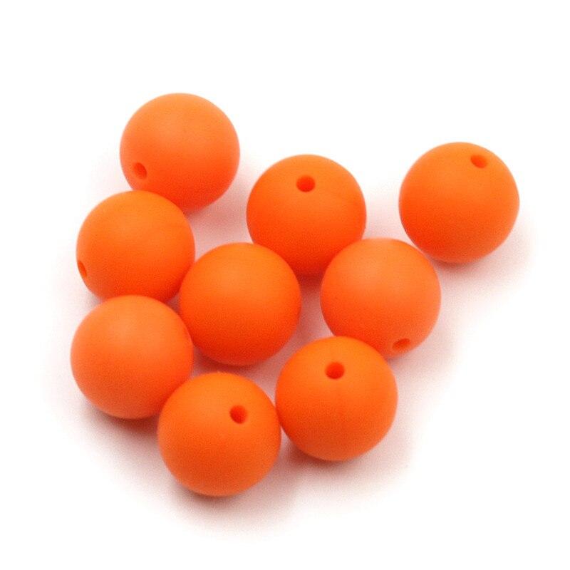 JOJOCHEW 100 sztuk 9mm-19mm Pomarańczowy Hot Nowe Silikonowe - Opieka nad dzieckiem - Zdjęcie 3