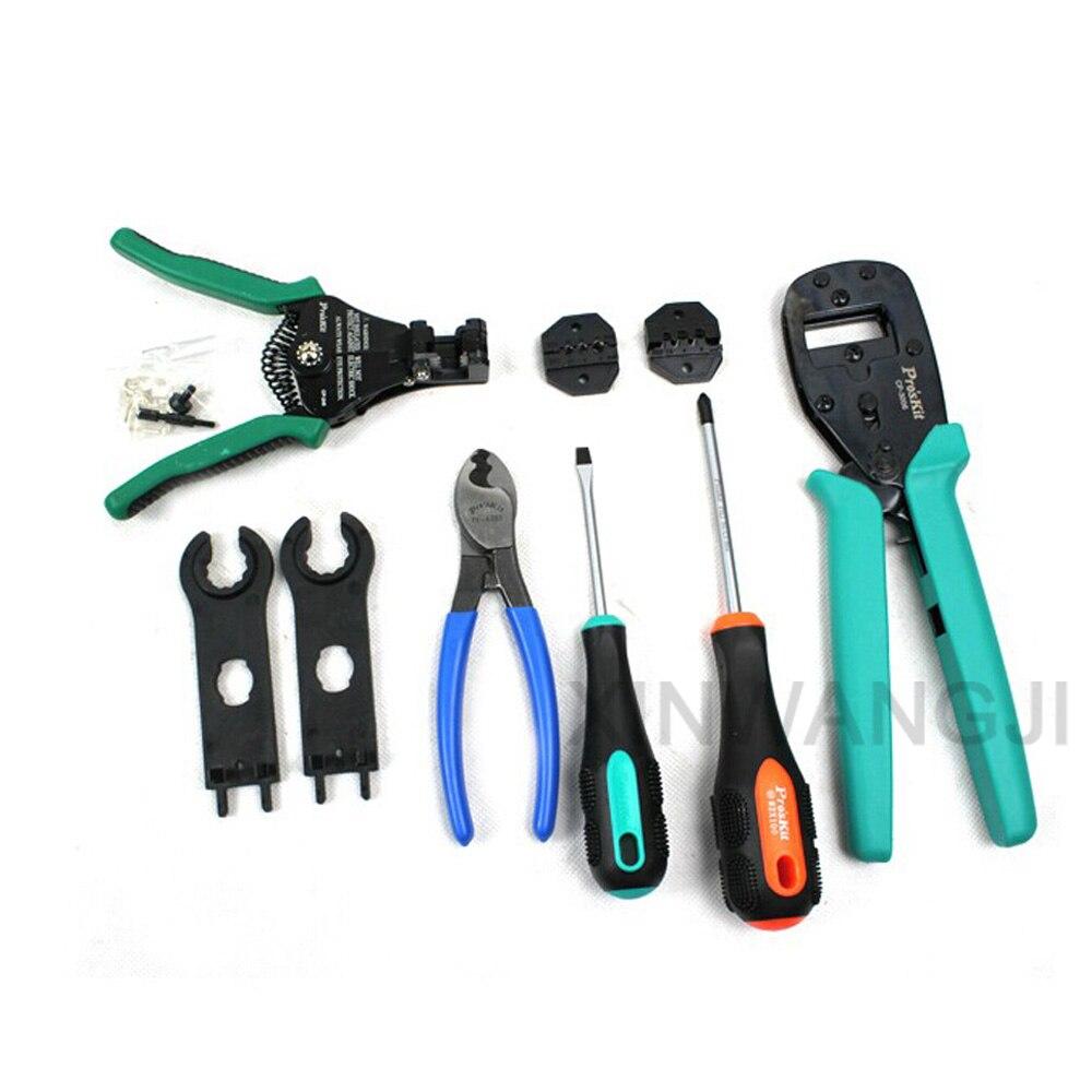 Pro'skit PK 2061 Solar Energie Cut linie Präzision Crimpen Abisolieren Werkzeuge Kit Set Von Tools Speziell Für Solar Panels - 3
