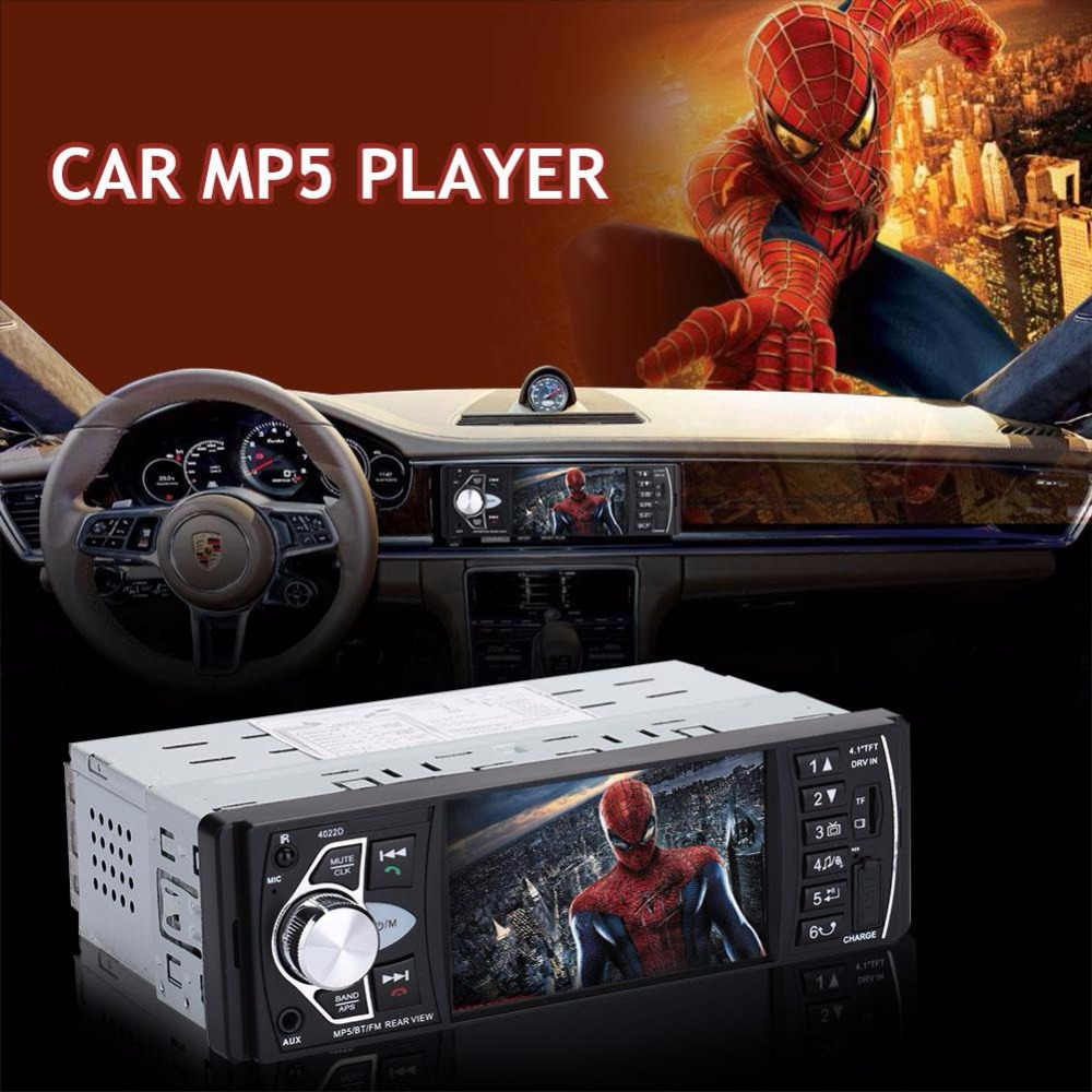 Vehemo Audio Video Player Car Radio 1Din 4022D Car Radio Bluetooth FM Support Rearview Reverse Image Car Radio 7 hd 2din car stereo bluetooth mp5 player gps navigation support tf usb aux fm radio rearview camera fm radio usb tf aux