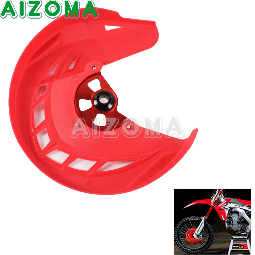 Dirt Bike Red X-Brake Front Brake Disc Rotor Guard Cover Protector For Honda CRF 250 L/M  CRF250L CRF250M  2012-2016