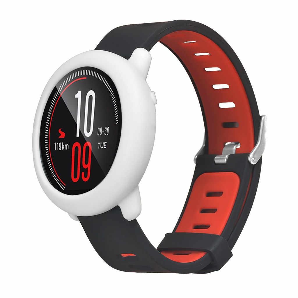 Nuevo diseño delgado funda protectora de silicona para Xiaomi Huami AMAZFIT Pace Watch # T2