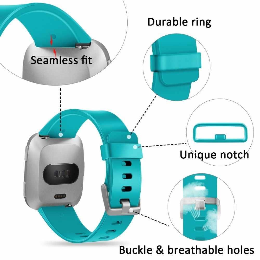 Duszake correa para Fitbit Versa Lite Band para Fitbit Versa edición suave, correa de silicona de repuesto, pulsera para Fitbit Versa
