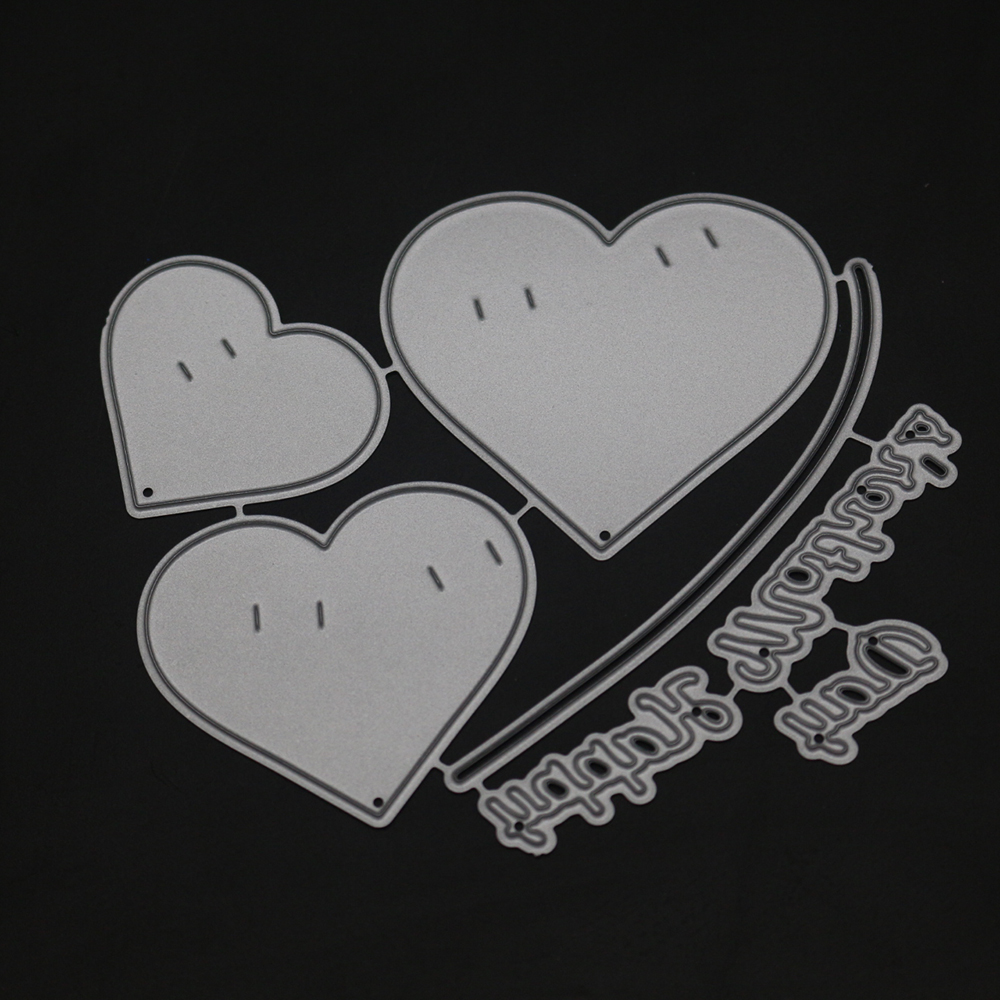 Bifujian love Banners Matel Cutting Die Crafts Embossing Scrapbooking Die Carbon Cut Paper Card Stencil For Albums Decor