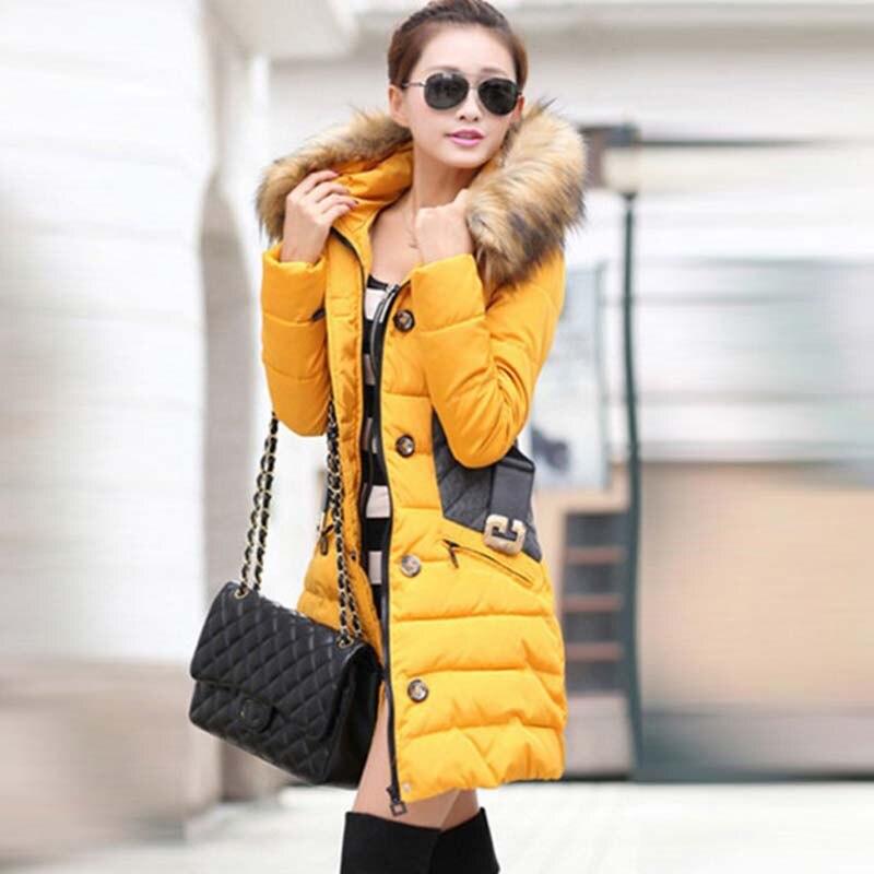 Yl004 Manteau À Parkas Et Vestes Casual Capuchon Femmes white Rembourré Veste Taille Black yellow Femme 2017 3xl red D'hiver Pardessus Parka Coton La Plus Mince IwqRnxHE
