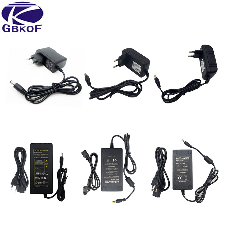 110-240V AC To DC Adapter <font><b>12V</b></font> 1A 2A <font><b>3A</b></font> 4A 5A 6A Power Adaptor Charger Universal Switching Supply 12 Volt LED Light Strip Plug image