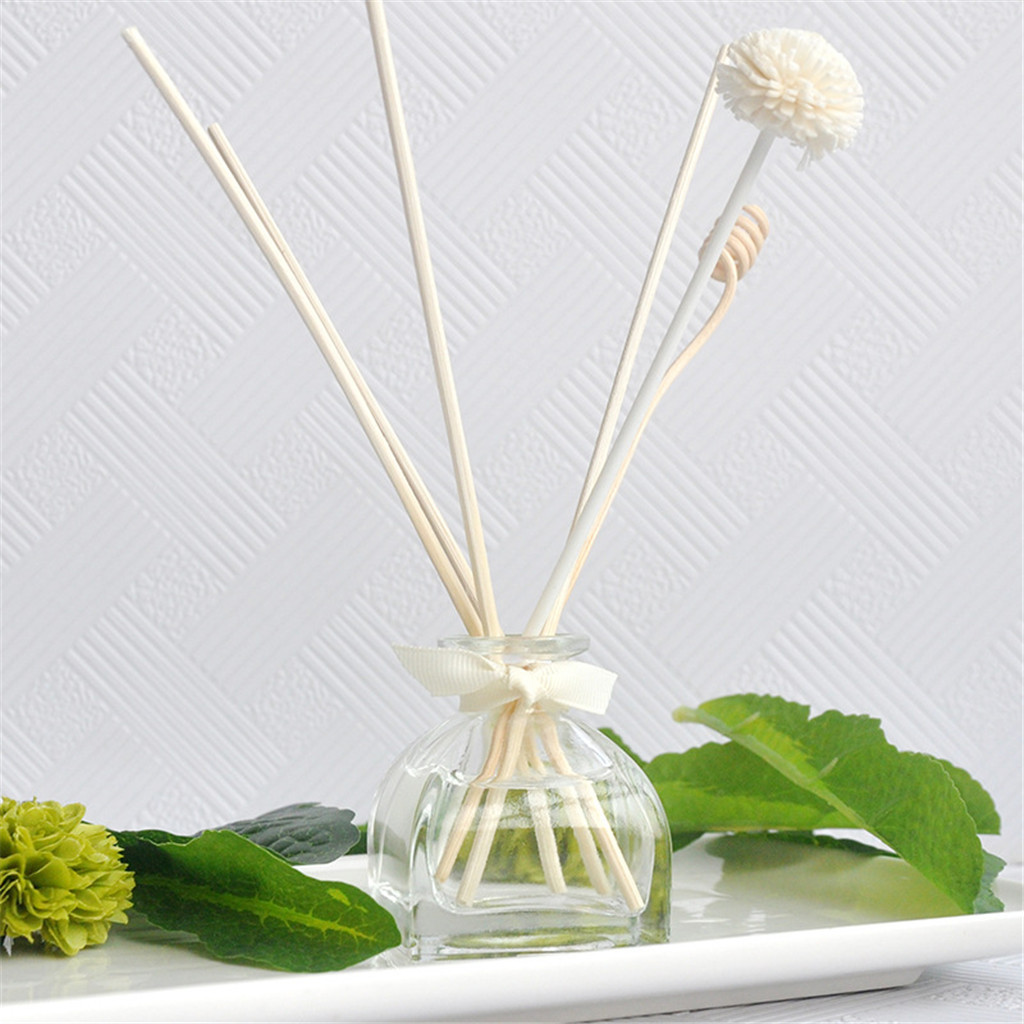 Loyal 50 Ml Glass Vessel Reed Diffuser With Rattan Sticks Aromatherapy Diffuser Replenisher Aroma Essential Oil Home Decoration#007 Incense & Incense Burners Home Decor