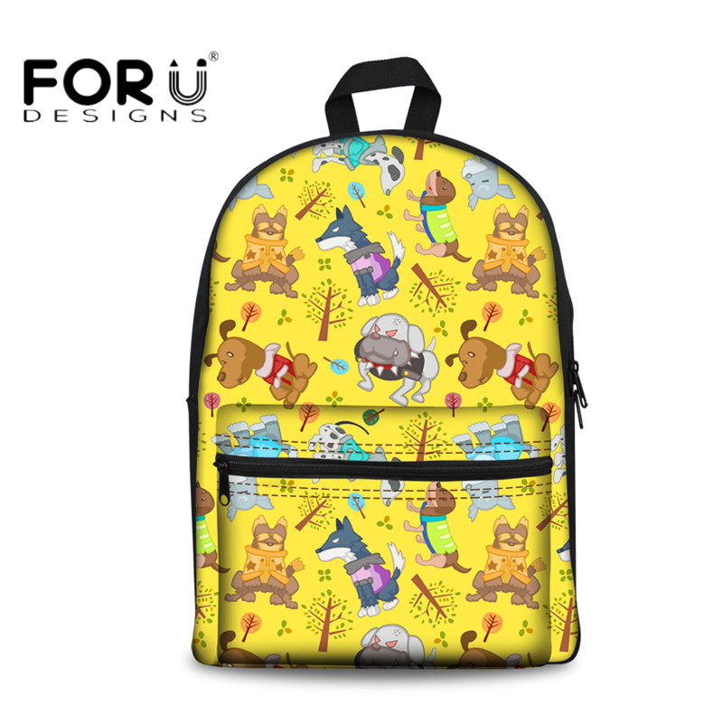 8729cc5d9556 FORUDESIGNS Cute 3D Printing School Bags for Women Travel Laptop Teen Girls  Canvas Backpack Casual College Student Kids Rucksack