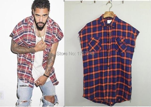 Justin Bieber Fog Plaid Shirt Dress Kanye Latest Mens Designer Clothes African Men Fashion