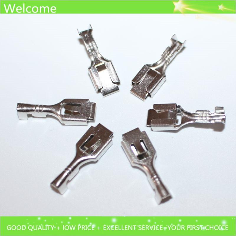 200pcs 6 3mm female crimp terminal connector for car fuse holder etc rh aliexpress com