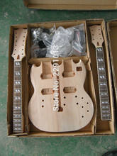 DIY SG Electric Double Neck Guitar Kit Solid Mahogany Body & Neck(China)