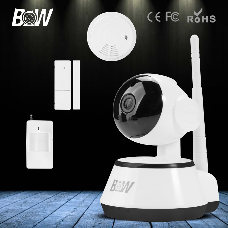 BW P2P CCTV IP Camera WiFi Wireless HD 720P Onvif Rotatable Surveillance Security Camera CCTV Automatic Sensor Detector Alarm bw wireless wifi door