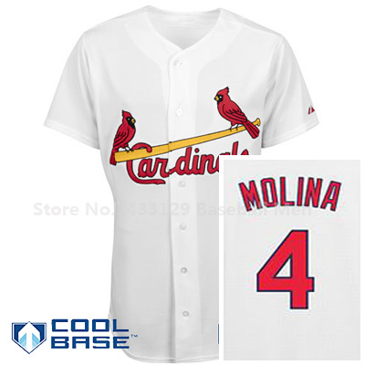size 40 a8d2f 1af12 US $29.0 |SL Cardinals Authentic Cool Base Yadier Molina Home Cool Base  Jersey White Color-in Baseball Jerseys from Sports & Entertainment on ...