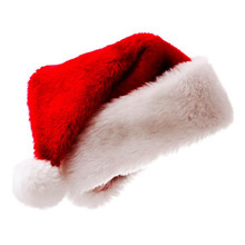 4pcs New years Cap Christmas Party Santa Hats Red And White With Ball Hat For Claus Costume XMas Decoration