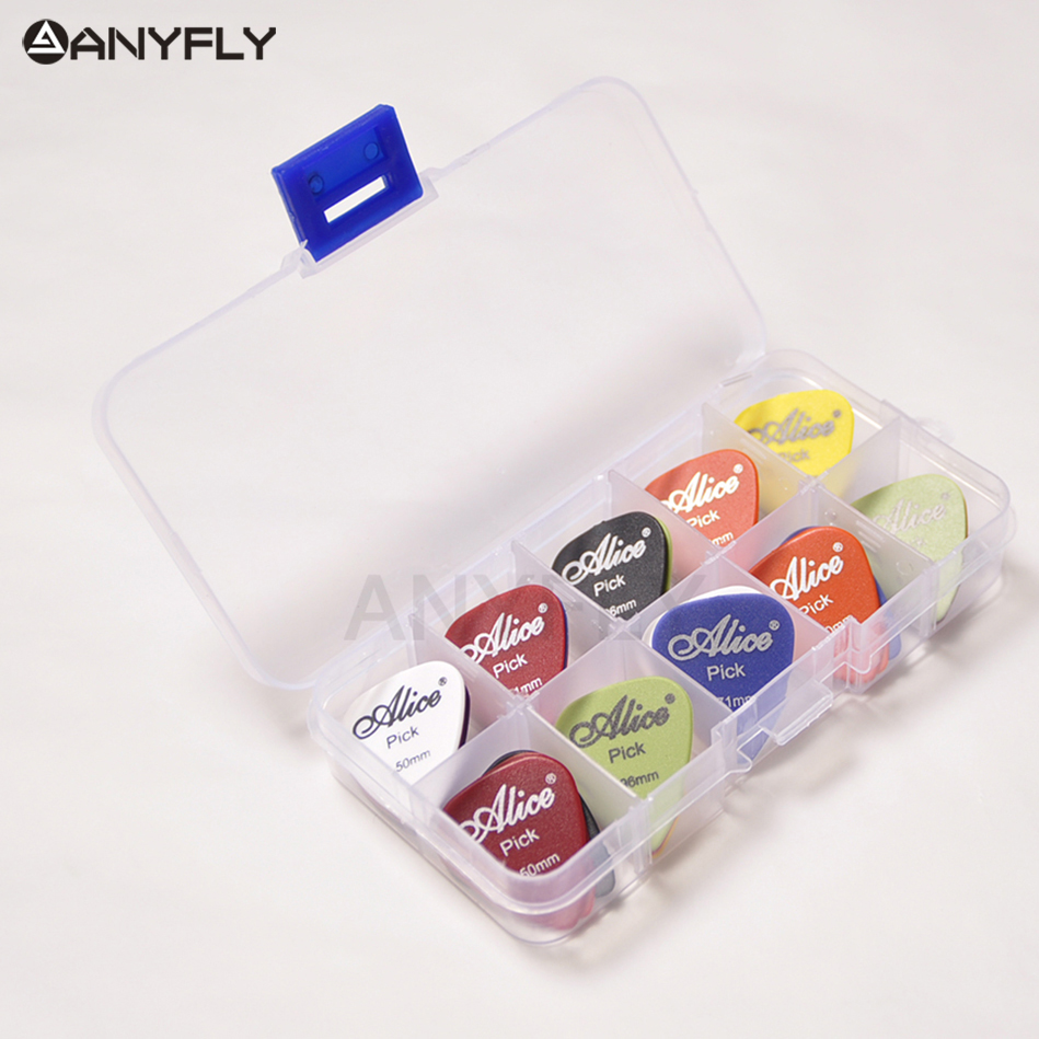 Lots of 20 Pieces Guitar Picks Alice Matte Acoustic Electric Plectrums(Thickness&Color Assorted) +1 Plastic case box