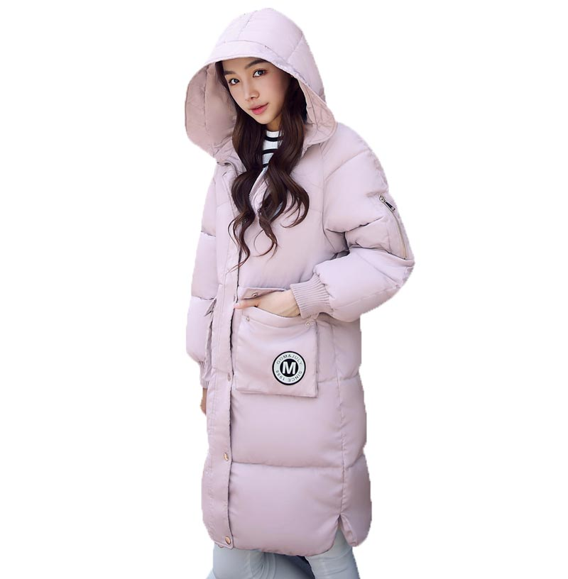 New arrive 2017 winter Women thick long Parkas hooded slim cotton plus size XXL warm long coats CE0327