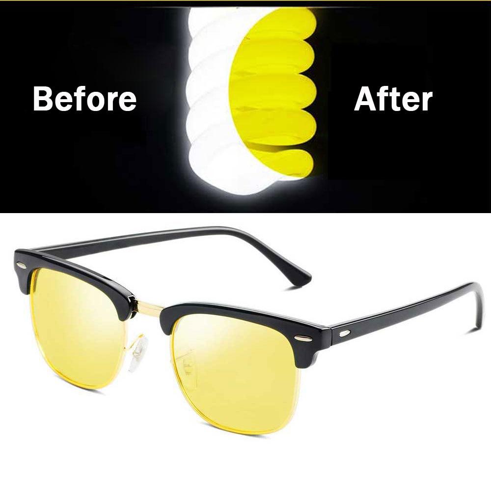 NALOAIN Glasses Driving-Goggles Night-Vision Yellow Polarized-Lens Car-Drivers Anti-Glare