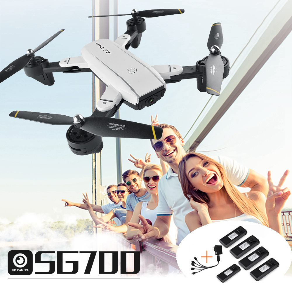 Optical Follow Rc Drone With Camera Hd Selfie Drones Fpv Quadcopter Auto Return Dron Helicopter Toys For Kids Vs Visuo Xs809hw