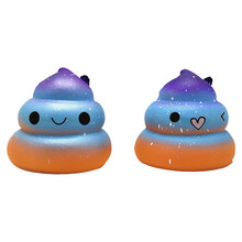 Creative Cute Colorful Poop Slow Rising Rebound Squishy Toy Soft Squeeze Smile Simulation Hanging Static Model Squish Toys(China)
