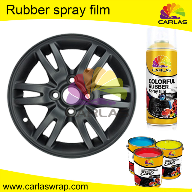 Rubber Car Coating Wheel Rim Protection Color Changing Aerosol Spray