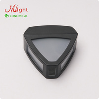LED Solar Powered Wall Light Fence Lamp Rechargeable Battery Outdoor Garden Triangular Solar Wall Lamp