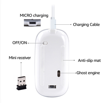 Wireless Bluetooth Mouse with Built-in Rechargeable Battery 5