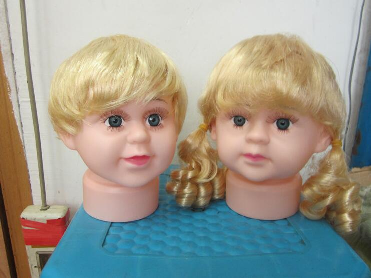 Hair Styling Mannequin Head: Hairdresser Head Doll,plastic Mannequin Head With Wig