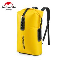 Naturehike Outdoor 28L Capacity TPU Waterproof Bag Dry Bag Waterproof Swimming Drifting Wear-resistant Backpack Water Supplies cheap River Trekking Nylon+TPU Coating Yellow Grey 500g 18*30*55cm 41*71cm NH19SB002