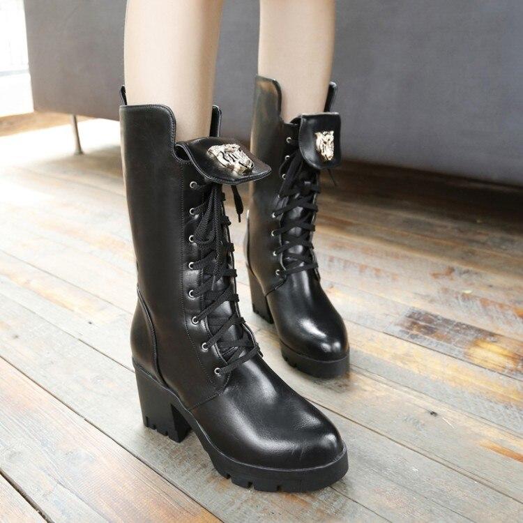 2017 Botas Mujer Boots Shoes Woman Fashion Motocicleta Mulheres Martin Outono Inverno Botas De Couro Boots Femininas Women 963 shoes woman fashion motocicleta mulheres martin outono inverno botas de couro boots femininas botas women boots canvas 9302
