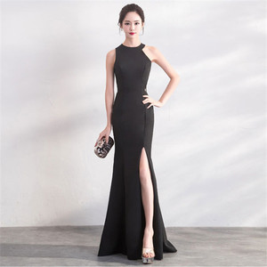 Image 3 - Its Yiiya evening dress Sexy Halter zipper back long party Gowns Elegant White sleeveless trumpet formal Prom dresses C148