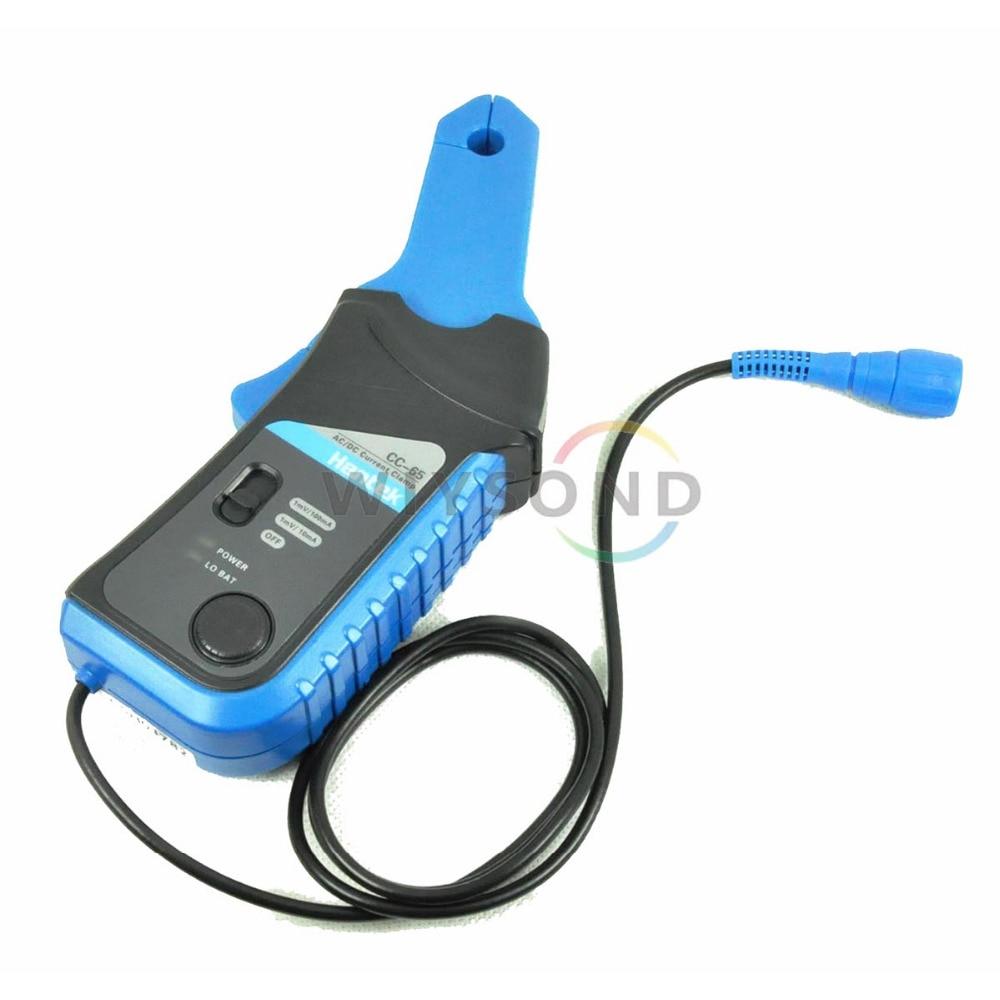 M026 Hantek CC-65 CC65 65A AC/DC Digital Current with BNC Connector Oscilloscope Multimeter Clamp Meter FREE SHIPPING  ac dc current clamp cc 65 ac dc 0 400hz measurable current range 20ma to 65a cc65