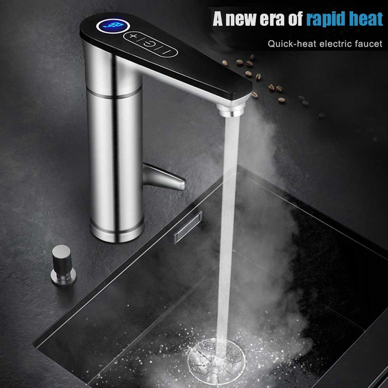 Fast Heating Water Heater 220V Banheiro Tankless Electric Tap Touch Bathroom/Kitchen Water Faucet Torneira With EU UK Plug