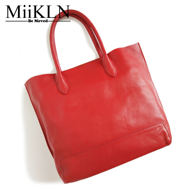 Miikln Genuine Leather Handbags For Women Bag Red Blue Black Yellow Las Shoulder 2017 New