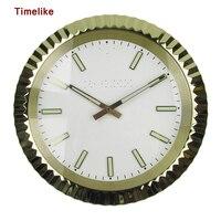 뜨거운 판매 금속 벽시계 럭셔리 디자인 시계 모양 스테인레스 스틸 시계 duvar saati reloj 드 pared horloge murale wandklok