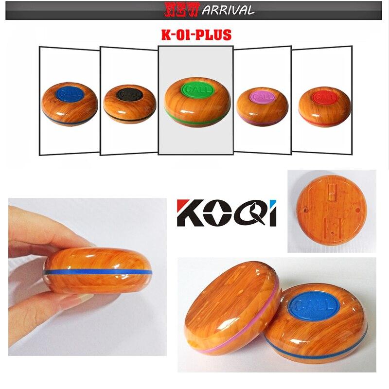 10 pièces Étanche Invité Appel Serveur bouton 1-clé à bouton-poussoir Table Cloche Anneau pour l'hôpital/clinique/ bar/restaurant K-O1plus