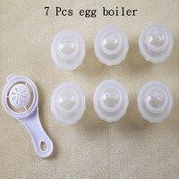 7 Pcs/Set Egg Tool with Separator Egg Boiler Cooker Transparent Silicone