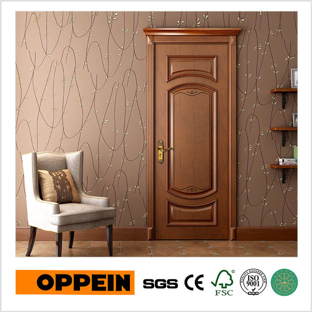 Oppein New Design Wood Veneer Swing Wooden Classic Interior Door