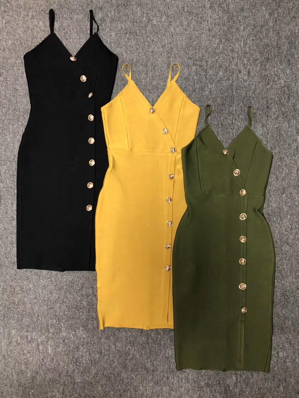 Deavogy 2019 nowe luksusowe kobiety pasek V neck Sexy wieczorowa sukienka bandażowa klub Vestido sukienka koktajlowa w Suknie od Odzież damska na AliExpress - 11.11_Double 11Singles' Day 1