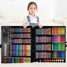 150/188/208 pçs conjunto de arte pintura aguarela desenho ferramentas arte marcador escova caneta suprimentos crianças para caixa presente escritório papelaria