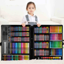 150/188/208pcs Art Set Painting Watercolor Drawing Tools Art Marker Brush Pen Supplies Kids For Gift Box Office Stationery