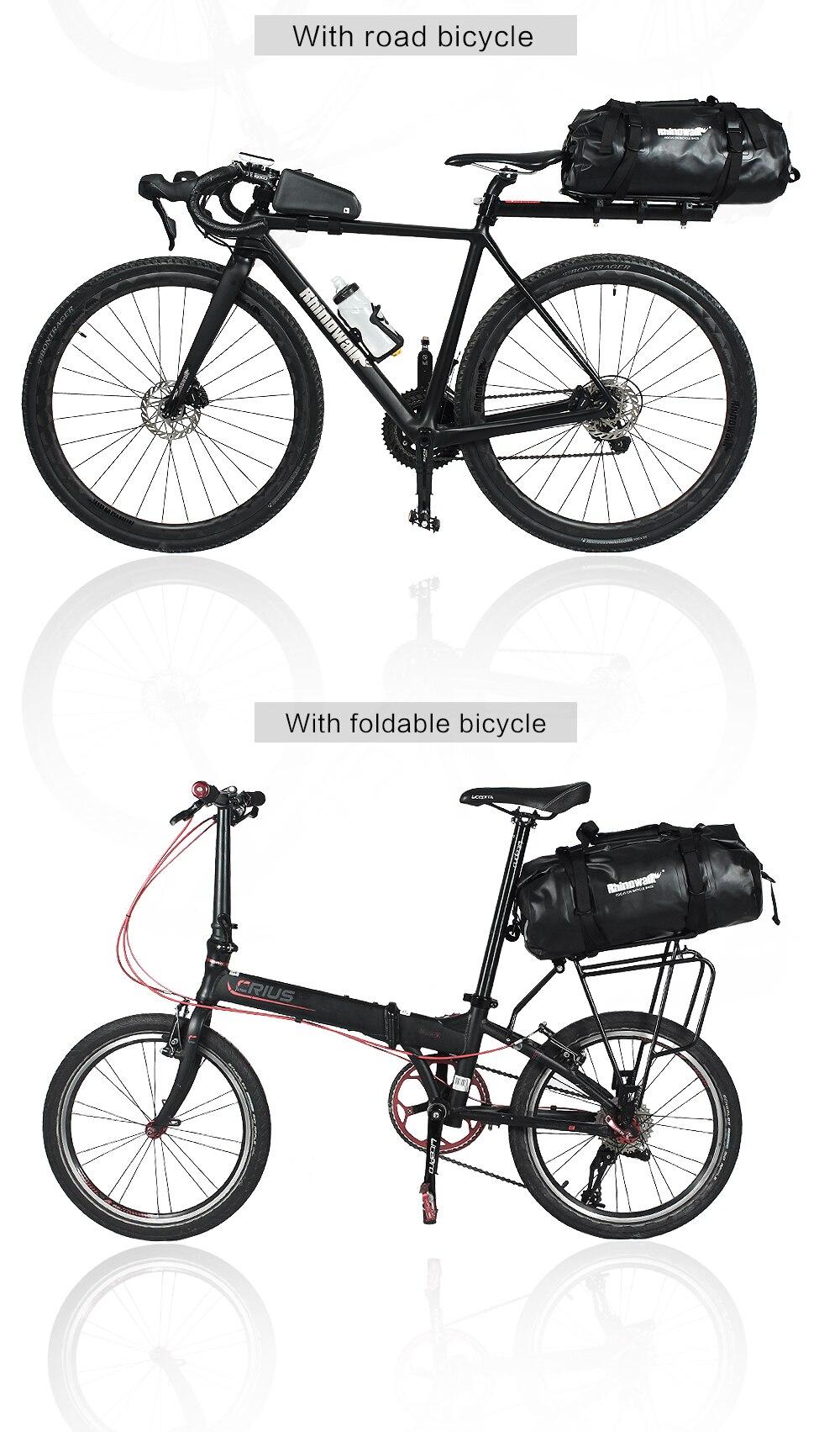 Rhinowalk Bicycle Luggage Bags 20L Full Waterproof for Road Bike Rear Rack Trunk Cycling Saddle Storage Pannier Multi Travel Bag (12)