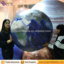 Free Shipping 1m PVC material airtight inflatable Earth balloon for toy sports