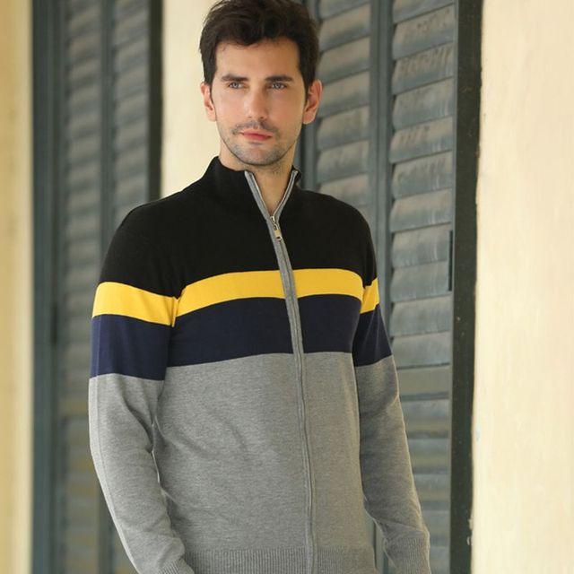 2017 Winter Mens Striped Pullover 100% Baumwolle Strickjacke ...