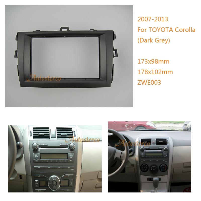 2 DIN Car Radio Stereo Dash CD Facia Trim Installation Kit for Toyota Corolla (Dark Grey)2007-2013 08-003