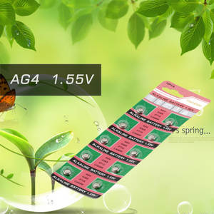 OUTAD 10pcs LR626 LR-626 AG4 177 377A Battery For Watches