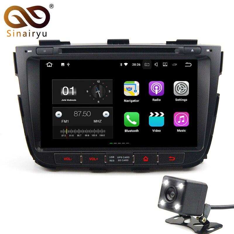 Sinairyu 2 г Оперативная память Android 7.1 автомобильный DVD для Kia Sorento 2012 2013 Octa core 16 г Встроенная память GPS навигации радио плеер головное устройство