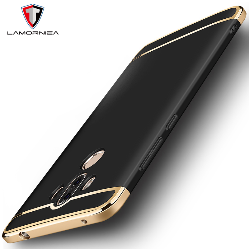 Lamorniea For Huawei Mate 9 Case For Mate 9 Pro Cover 3 in 1 Electroplating Plating Metal Hybrid PC Cover For Huawei Mate 9 Pro